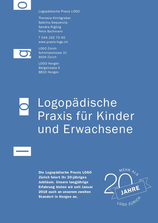 Flyer Praxis LOGO Zürich und Horgen